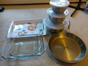 stainless fryfan / oven glasses and etc