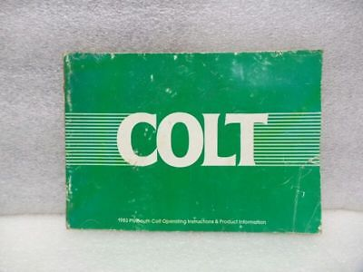 COLT      1983 Owners Manual 16571