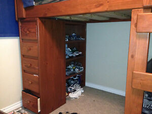 double loft bed with desk/drawers and shelf Regina Regina Area image 2