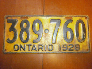 1920s Licence Plates