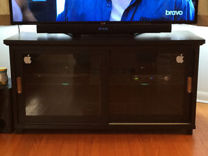 Tv stand with closed storage