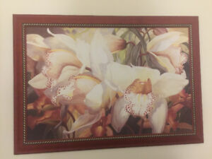 Barbara horning canvas with frame wall art picture floral