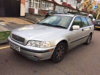 2001 VOLVO V40 Manual. ESTATE PERFECT DRIVE MOT. TAX LEATHER
