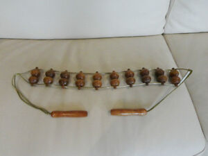 Solid Wood-Rope Hand Back-Back Rolling Massager -Excellent Shape Kitchener / Waterloo Kitchener Area image 1