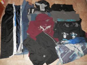 Big bag of youth boys clothing (jacket,pants,Ts,shorts,hoodies)