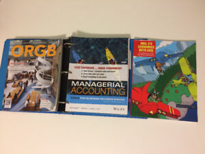 Year 1 & 2 Brock Business Textbooks - ACTG, OBHR