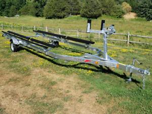 New galvanized pontoon trailer