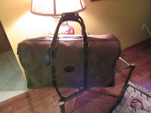 VINTAGE ROOTS LEATHER DUFFEL BAG
