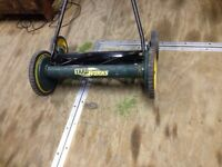 Yard works push reel mower