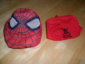 Spiderman cloth mask $3 & Pirates of Carribbean skull cap $1. wo