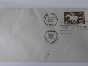 5 AMERICAN FIRST DAY COVERS PLUS WASHINGTON ENVELOPE
