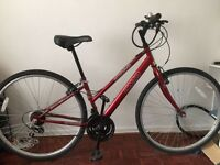 Femal red bike for sale - serviced and in great condition