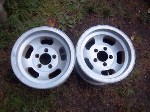 "14"" slotted aluminum camaro wheels"