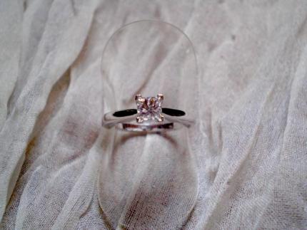 PRINCESS CUT .54CT DIAMOND RING - COLOUR G - CLARITY VS2