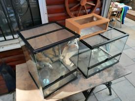2 X Exo Terra Glass Terrarium