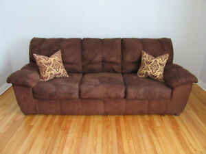 Brown Microsuede Couch
