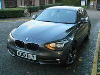 2012 62 REG BMW 118D SPORT 5DR DIESEL+NEW SHAPE+GREY+1 P/OWNER+FBMWSH