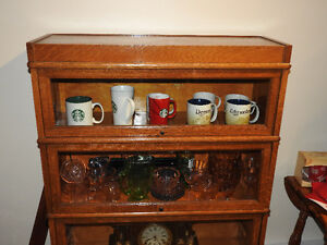 MACEY OAK 1920s 3  Stackable Barrister Display Cabinet