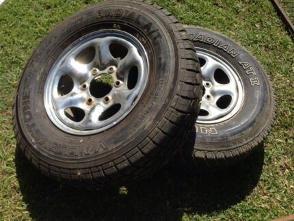 6 stud rims n tyres 15x7 Cleveland Redland Area Preview