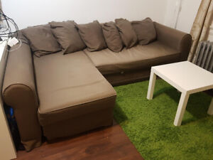 Ikea couch - corner scandinavian sofa -  L shape sectional