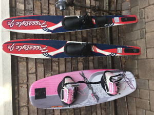 Girls Wakeboard and water skis