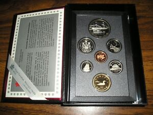 1991 ROYAL CANADIAN MINT UNCIRCULATED PROOF 7- COIN SET