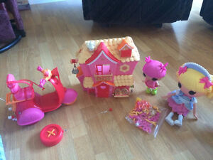 Lalaloopsie Dolls,House and Remote Control Bike