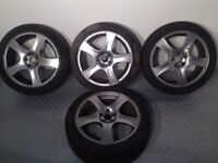 "FM 17"" 5x100 7j original made in Italy alloy wheels, not borbet, lenso, ats, bbs tm"