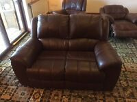 2 seater and 2 reclining arm chairs