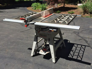 "Rigid 10"" table saw with accessories"