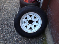 175/80r13 trailer tire with rim