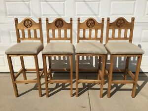 Rustic style bar stools
