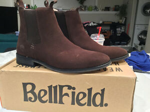 Bellfield British-made Suede Chelsea boots
