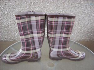 Plaid Rubber Boots