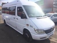 MERCEDES-BENZ SPRINTER 411 CDI 17 SEATER MINIBUS TWIN REAR WHEELS HIGH ROOF