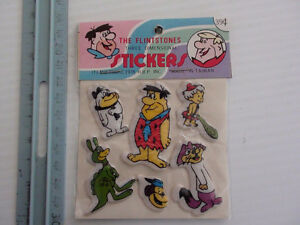 AUTOCOLLANT STICKER THE FLINTSTONES 1978