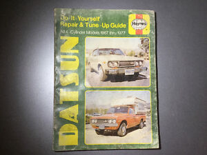 1967-1977 Datsun Shop Manual PL521, 510, 620 Truck B210, 1200