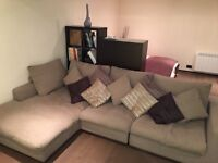 Barker & Stonehouse large sofa with large footstool