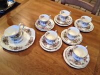 Elizabethan wild bramble vintage China tea set