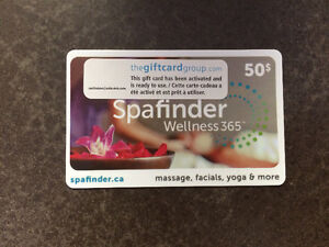 Spa Finder $50 giftcard. Good for different spas on the island.