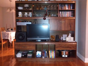 Vintage wall unit/hutch/TV entertainment unit in great condition