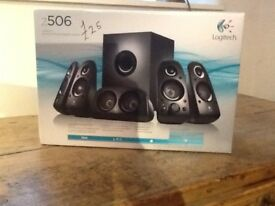 Logitech surround sound speaker system