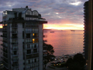 English Bay West End 1 Bdrm furnished. Ocean view.
