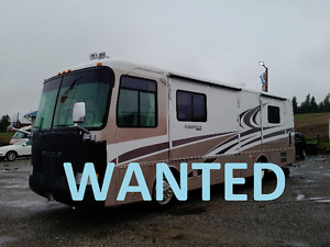 WANTED CASH PAID - Diesel  or Gas Class A,B or C Motorhomes