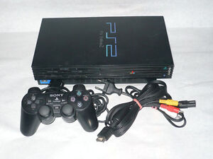 PS2 Console, 1 Controller and All Cords