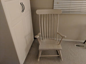 White Washed Oak Rocking Chair