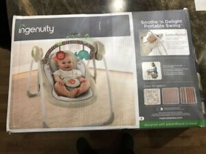 New Ingenuity SooThe 'n Delight Portable Swing,
