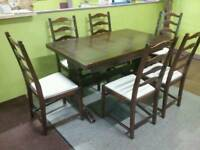 Ercol Extendable Dining Table & 6 Chairs - Can Deliver For £19