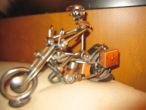 Bogart Collection Handmade Metal Sculpture Tommy Harley Bike New