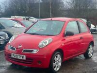 * 2010 NISSAN MICRA 1.2L VISIA + LOW 60K MILES + 2 OWNERS + FULL S/ HISTORY *